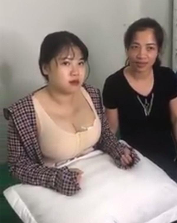 Hình ảnh hậu phẫu thuật của Trang